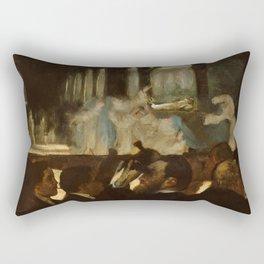 "Edgar Degas ""The Ballet from ""Robert le Diable"""" Rectangular Pillow"