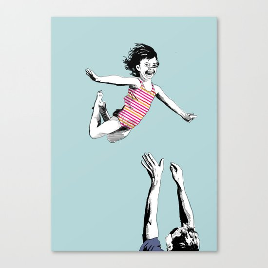 Jump for joy Canvas Print