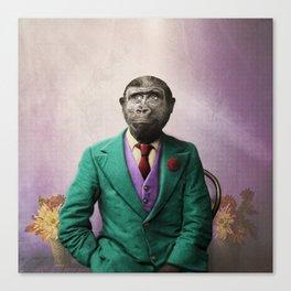 Bradley was a Young Gorilla with BIG Dreams Canvas Print