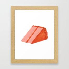 cake sprinkles Framed Art Print