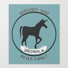 Horsebot 3000 Never Forget Canvas Print