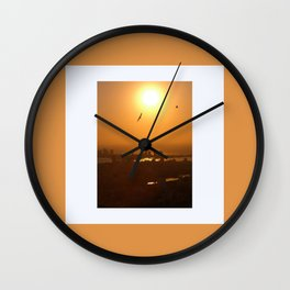 Flying over Cartagena Wall Clock