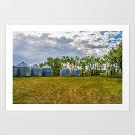 Grain Bins 2 Art Print