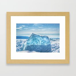 Pressure ridge of lake Baikal Framed Art Print