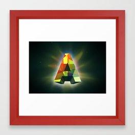 """A"" Framed Art Print"