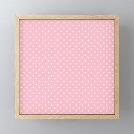 Dots (White/Pink) Framed Mini Art Print