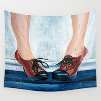 heels Wall Tapestries featuring Heels by MardyArts