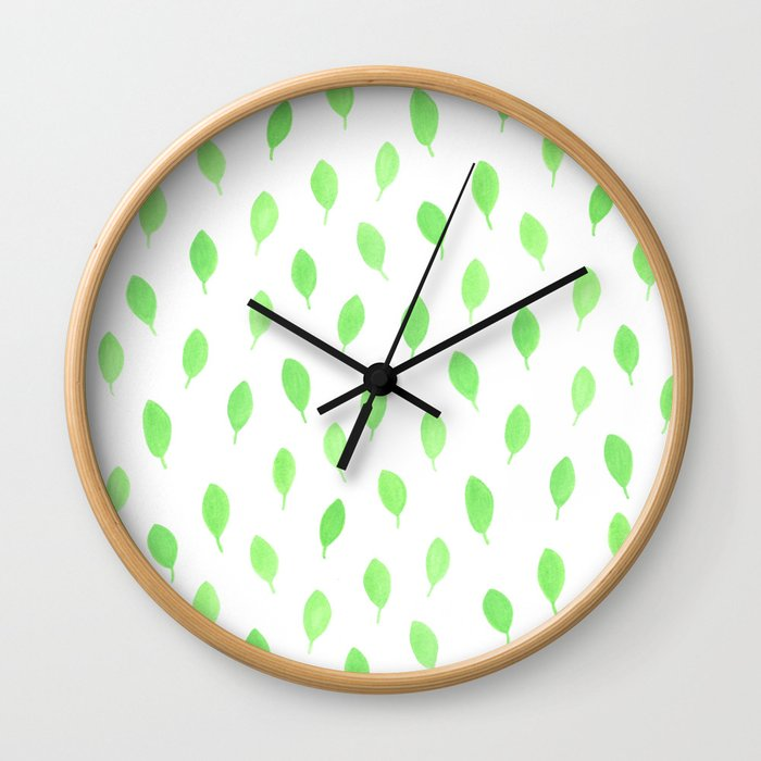 Floating Leaves Wall Clock