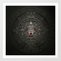 calendars Art Prints featuring Stone of the Sun I. by Dr. Lukas Brezak