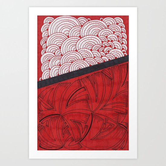 Red on Red Art Print