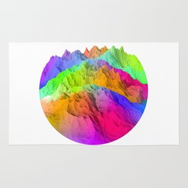 Holopunk Mountains Rug