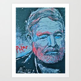 Hemingway pilar Art Print