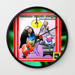 PRINCESS CHAKA KNIGHT POSTER TWO Wall Clock