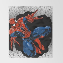 Spidey Color Throw Blanket