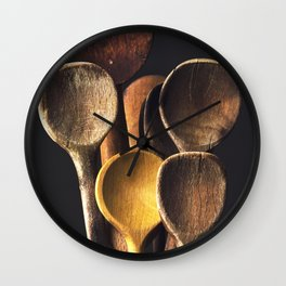 Wooden spoons Wall Clock