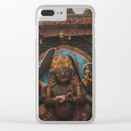 Temples and Architecture of Kathmandu City, Nepal 001 Clear iPhone Case