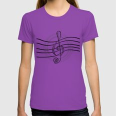 Solo... Womens Fitted Tee Ultraviolet X-LARGE
