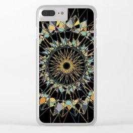black celtic spiro Clear iPhone Case