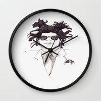 basquiat Wall Clocks featuring Basquiat by K.Fields