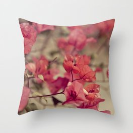 Red Flowers #2 Throw Pillow