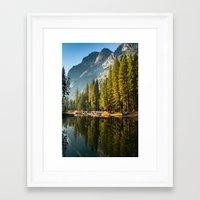yosemite Framed Art Prints featuring Yosemite by Stephen Yao