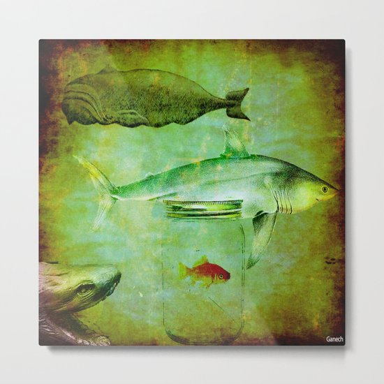 Hostile environment for a goldfish Metal Print