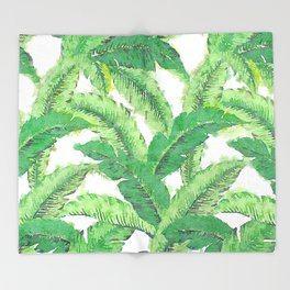 Banana for banana leaf Throw Blanket