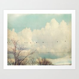 Beyond The Blue Art Print