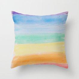 Chakra Watercolor Throw Pillow