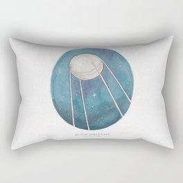 Haruki Murakami's Sputnik Sweetheart // Illustration of the Sputnik Satellite in Space in Pencil  Rectangular Pillow