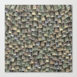 US dollars all over cover Canvas Print