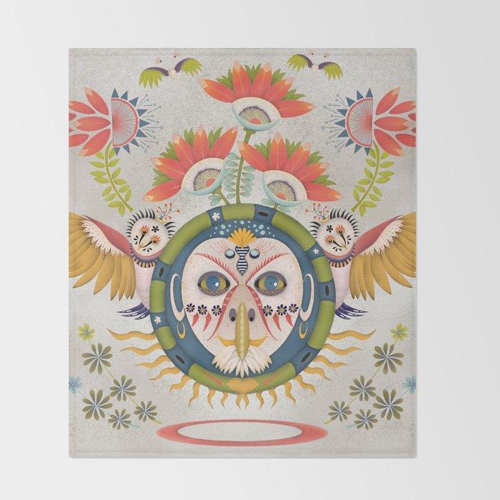 Inca Owl Throw Blanket