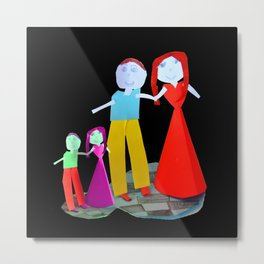 Dance me to the end of love | Kids Painting by Elisavet Metal Print