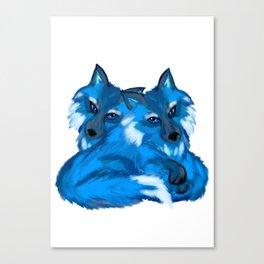 Twin Fox Canvas Print