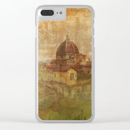 Italian Manuscript Clear iPhone Case