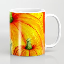 SURREAL REDDISH ORANGE FALL PUMPKINS Coffee Mug
