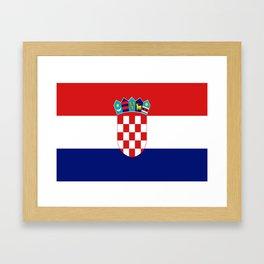 Flag of croatia -croatian, Hrvatska,croat,croacia,Zagreb,split,rijeka,osijek. Framed Art Print