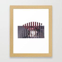 Rose Hat Girl Framed Art Print