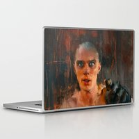 mad max Laptop & iPad Skins featuring Nux Mad Max by Wisesnail