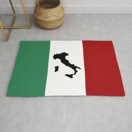 Italian Flag & Boot Rug