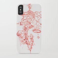 Abstract Lines, Linear Pyramid Space iPhone X Slim Case