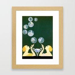 "1920's Art Deco Design ""Bubbles"" Framed Art Print"