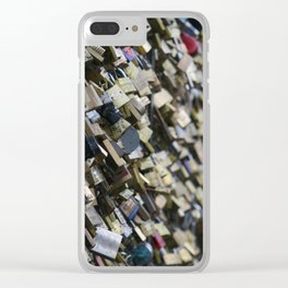 Unlock my (he)art Clear iPhone Case