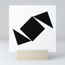 Abstract Modern Minimalist shapes Graphic Square triangles - balance Mini Art Print