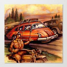 Tri -Wheel Canvas Print