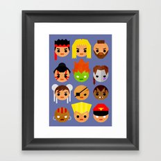 Street Fighter 2 Mini Framed Art Print