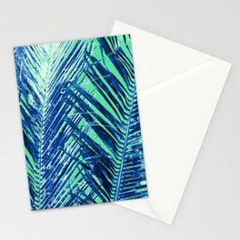 Tropical Palm Blue Stationery Cards