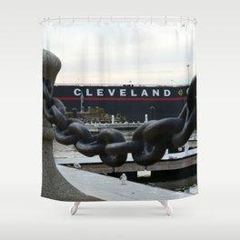 Cleveland Ship Yard Shower Curtain