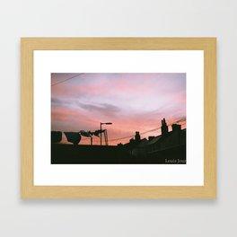 Dry wash in the Sunset Framed Art Print