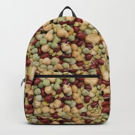 Pattern dietary beans and legumes Backpack